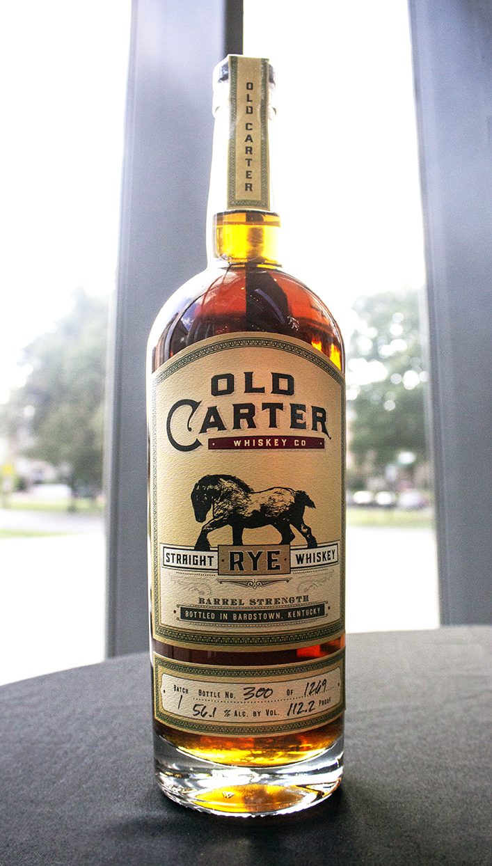 Old Carter Batch 1 Rye Whiskey FRONT